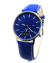 Soar power energy blue genuine leather strap limited edition unisex steel casual watch