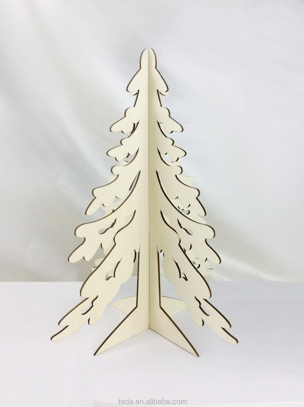 Wooden art mind carft Christmas tree for home and office decoration laser cut and engraving wood craft Christmas treeSD-430 (2)