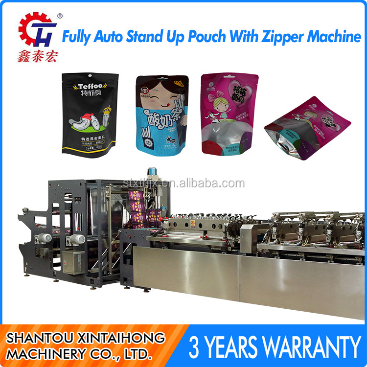 Fully auto stand up pouch making machine,zipper bag making machine