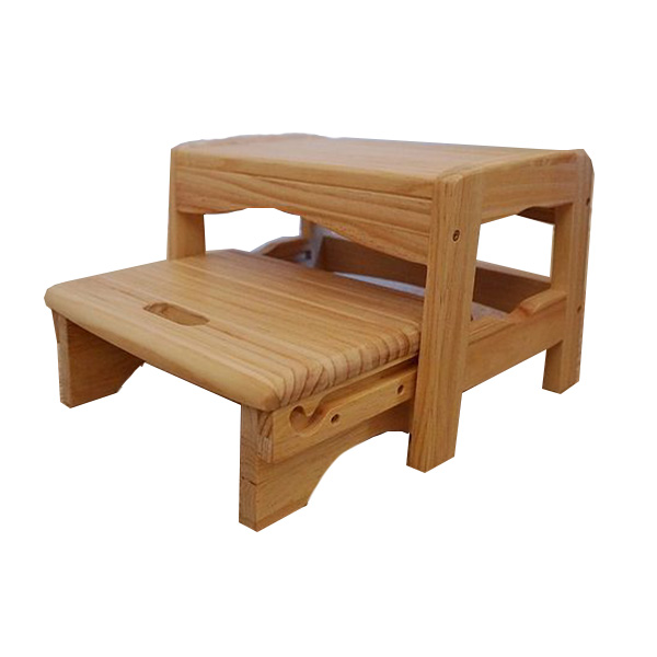 Factory Price 2Tiers Safety Wooden Step Stool Set
