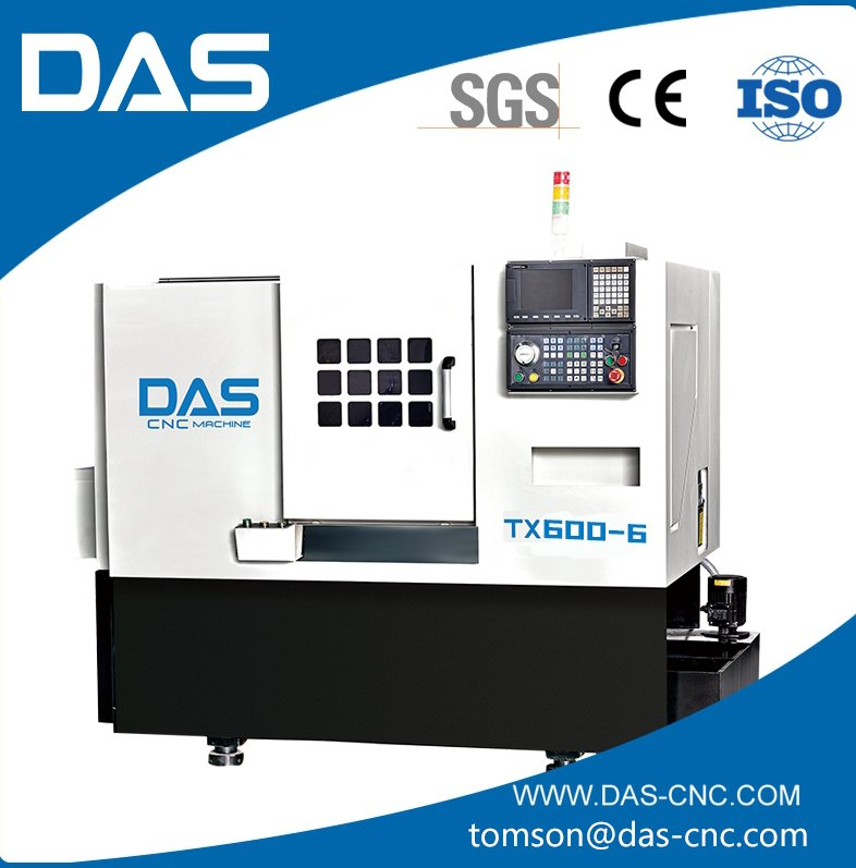 "TX600-6 Full-function horizontal numerical control lathe, cnc machine/CE ISO certification with tailstock and 12"" chuck"
