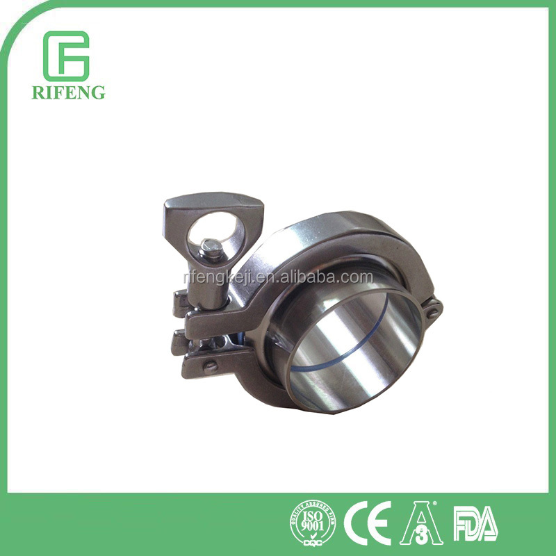 Tri-Clamp Assembly 304 Stainless Steel Sanitary Weld Ferrule Pipe Fitting