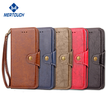 Flip leather phone case for iphone 8 , card holder fold stand bookstyle mobile phone leather case for iphone 7