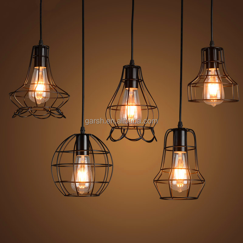 Loft Small Iron Cage Ceiling Pendant Light