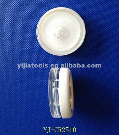 circular level vial,plastic circular bubble vial YJ-CR2510