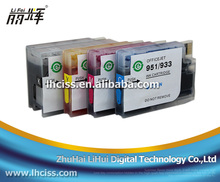 Newest chip 932 933 Refill ink cartridge for HP Officejet 7612 printer with reset chip