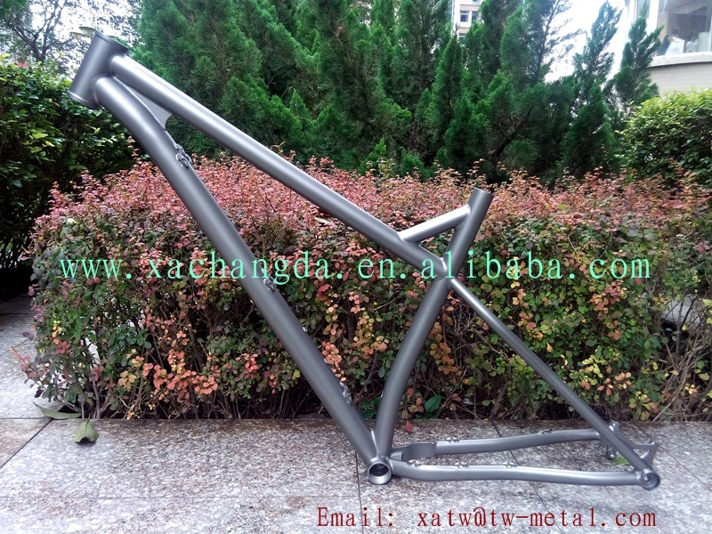 titanium mtb bike frame thru 142X12mm dropout Ti mountain bike frame thru 142X12mm dropout custom fat bike frame PM