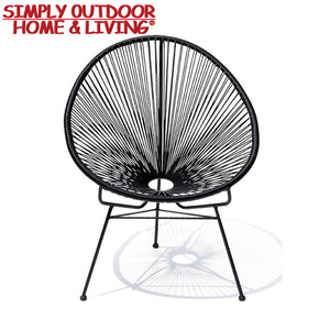 Outdoor Garden Steel Frame Chair Rattan Acapulco Lounge Chair