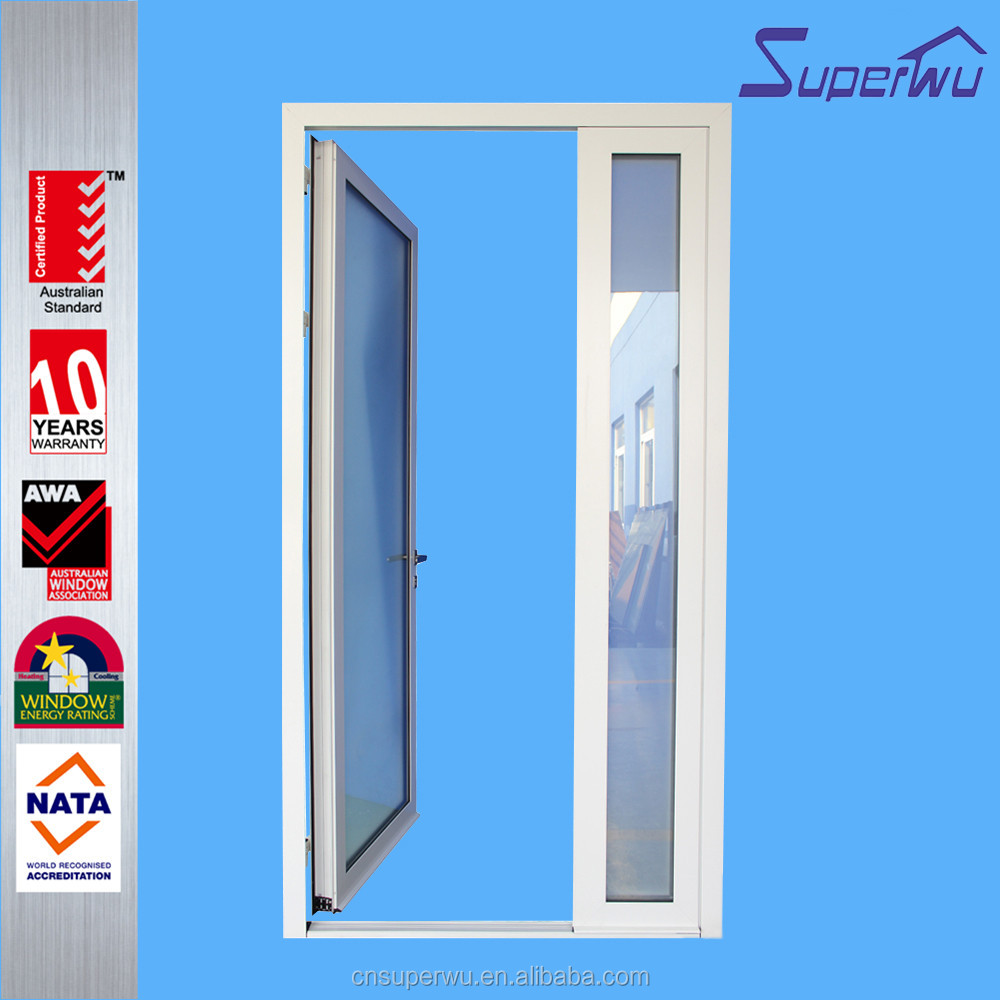 wholesale aluminum double glazed single french door awning window with german hardware