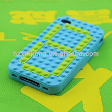 Cute design 100% silicone creative mobile phone case/cell phone casing