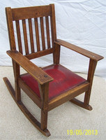 RCH-4296 Vintage Childrens Oak Rocking Chair