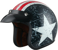 China Hot selling DOT approved 3/4 vintage open face helmet for sale