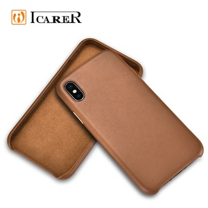 2018 Original Series Genuine Cowhide Leather Back Cover Phone Case for iPhone XR