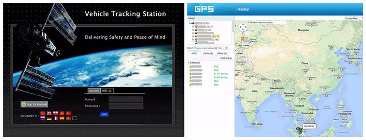 Car / Vehicle GPS Tracker with real time online tracking system Y2 support sos, voice monitoring, fuel cut off