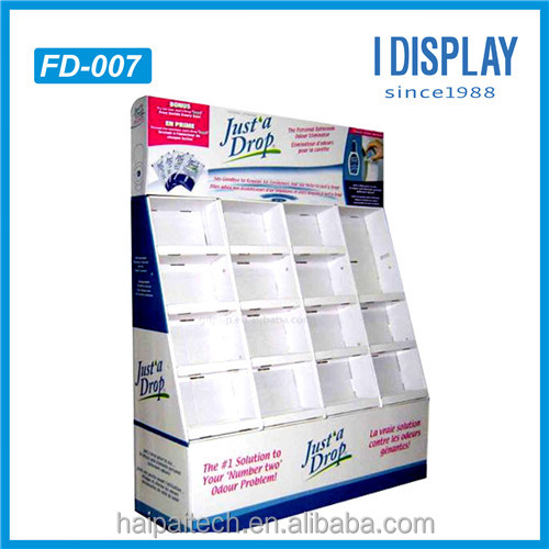 trade show exhibit cardboard display racks, paperboard cosmetic exhibition booth display