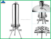 316L Stainless Steel Triple Cartridge Filter Housing , Wine Making Equipment