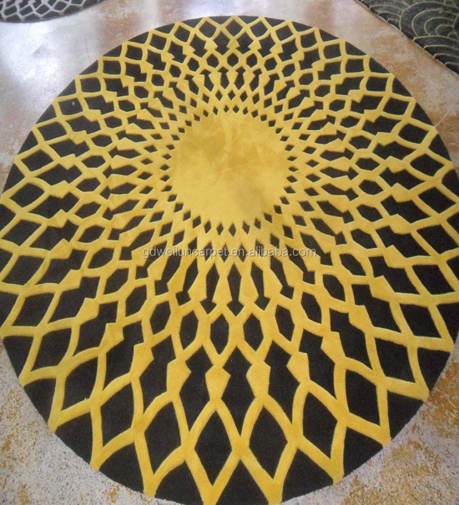 Round hand tufted carpets with custom design and sizes, home rugs and carpets