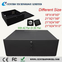 CCTV system Small Heavy Duty 16 Gauge different size DVR Security Lockbox with Fan
