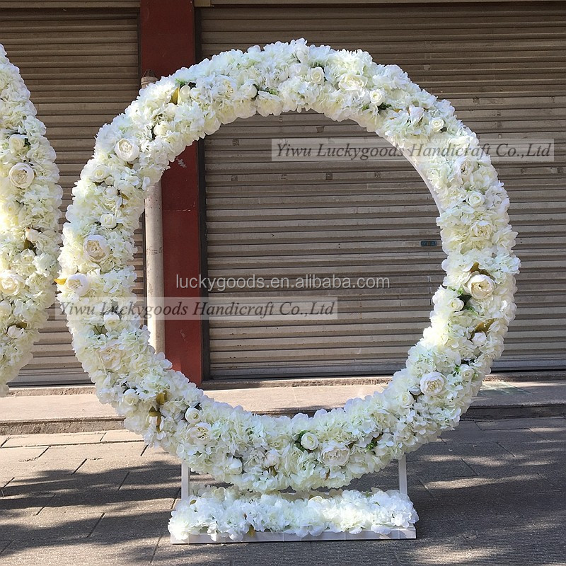 LFB476 fashionable silk white wedding arches for sale