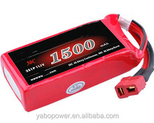High quality 11.1v 30C 1500mah Lipo Battery for RC model/hobby airplane