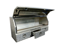 Diamond aluminum large tool box with drawer for truck body