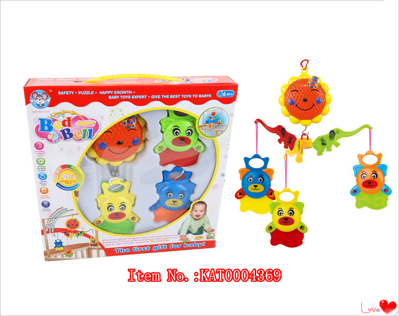 Amazon Cheap Price High Quality Musical Baby Toy Baby Bed Bell For Children Christmas Gift