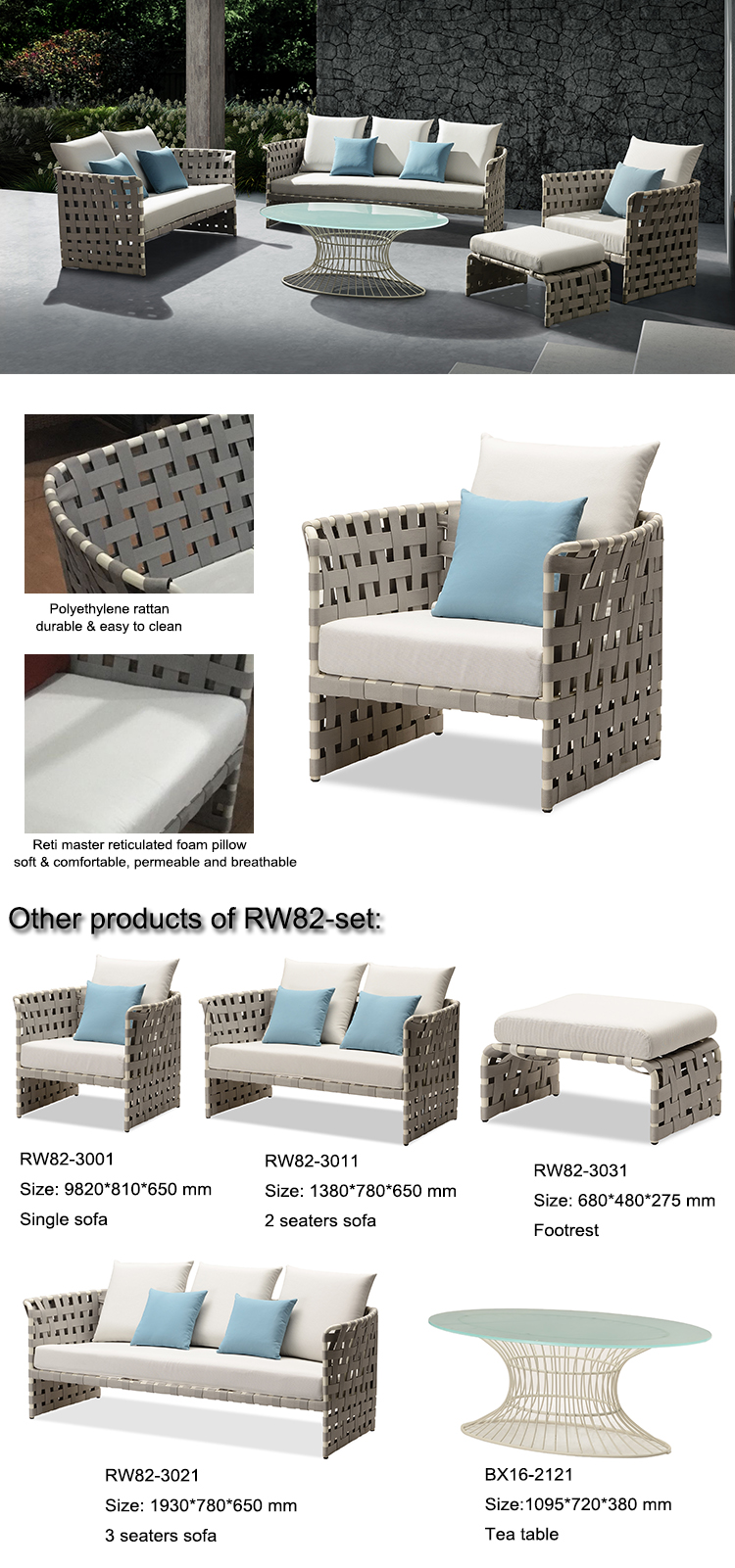 cheap discount UV resistant PE Plastic Patio garden wicker sofa outdoor synthetic rattan furniture