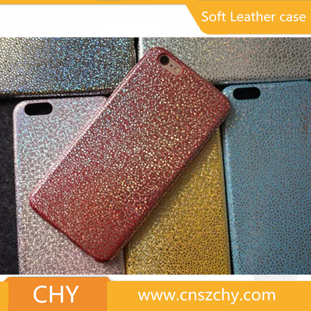 New fashion ultra thin tpu gel leather bling glitter back cover case for iphone 5s