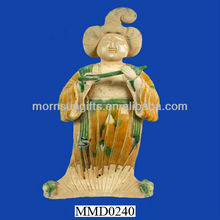 Ceramic Tang Dynasty fat beauty female figurine