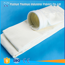 Pulse jet anti-static PE filter bag for cement filtration filter baghouse