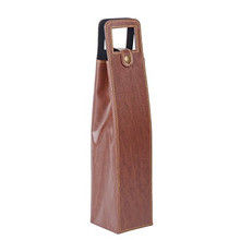 PU Leather Cardboard Single Bottle Wine Gift Carrier Shipping Boxes Wholesale
