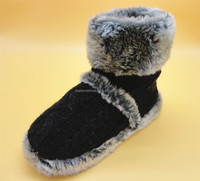 Men winter footwear suede and knitting upper cool style best price fur boots