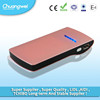li-polymer battery power bank 6000mAh pink color with LED charging indicator