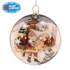 Painting Christmas decoration wholesale snowman glass ornament ball OEM