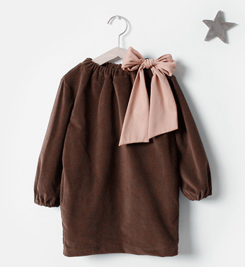 latest design warm corduroy child fashion dress for small girls