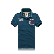 2014 Custom made embroidery men polo t-shirt