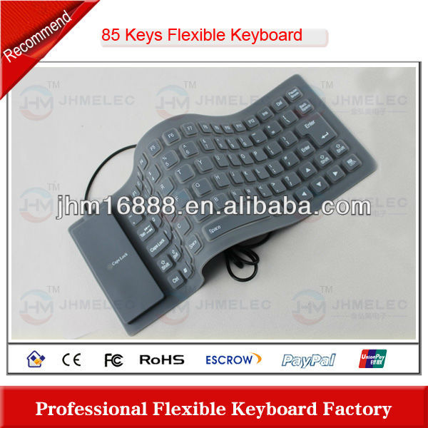 hot sell 85 keys silicone keyboard for tablet