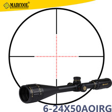 MARCOOL 6-24X50 AOIRGL Hunting Trail Camera Night Vision Scope Riflescope Mil Dot