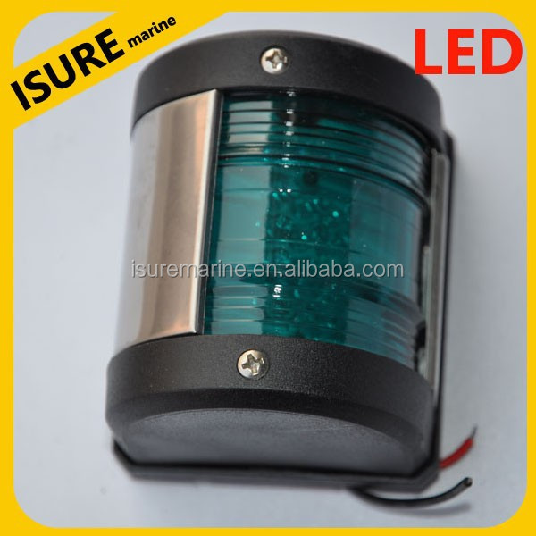 Tungsten bulb starboard light MARINE BOAT YACHT RED & GREEN BOW NAVIGATION LIGHT STARBOARD PORT LED LIGHT