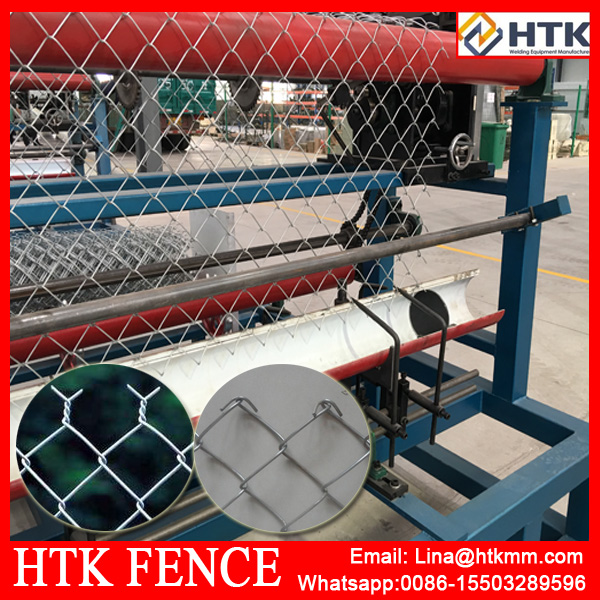 Automatic hot dip galvanized Chain Link Fence making Machine / Diamond Mesh Machine Chain Link Fence Equipment