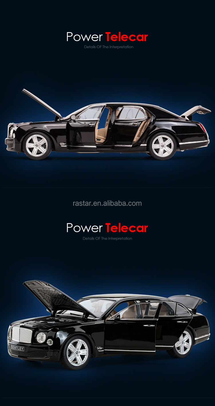 Rastar new products 1:18 scale collectible toy cars