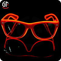 Distributors Party Supplies Red El Wire Sound Activated Fashionable Sunglasses Men