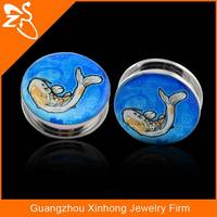 316 L stainless steel gauges plugs ears, hot sale ear gauges, custom fish ear gauges plugs
