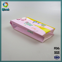 Manufacturer gravure printing plastic side gusset packing wet tissue bag