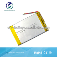 battery powered uv lamp 3.7v 7200mAh flat rechargeable lithium ion polymer cell