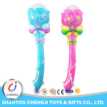Factory cheap flower shape plastic baby rotating magic wand toy