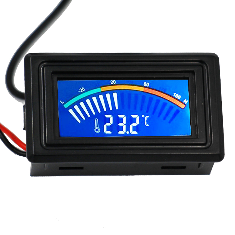 Digital LCD Pointer Thermometer -50-110C C/F for Computer Case Car Water Temperature Meter DC 5-25V Gauge