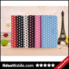 Colorful Dot Fashion Leather Mobile Case for Blackberry Z10 Mobile Phone Case