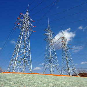 Galvanized steel electric power transmission tower