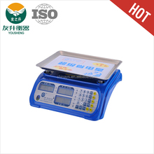 Blue Color New Design LCD Display Electronic Price Weighing Scale,ABS Materials Body,Comfortable Keyboard,Sensitive Load Cell